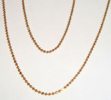 "18k yellow gold faceted beads chain necklace(2.1gr/18""inch)"