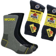 12 Pairs Mens Ultimate Work Boot Socks Size 6-11 Cotton Rich Reinforced Toe