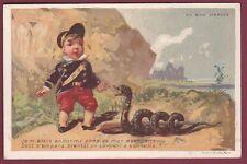 Chromo AU BON MARCHE - 140613 - militaire escopette serpent à sonnette