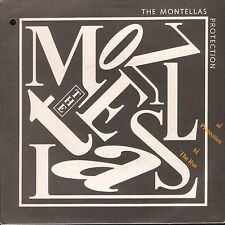 """THE MONTELLAS protection/the uk arista 3 1987 7"""" PS VG/EX punch hole in sleeve"""