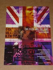 """Sex Pistols """"The Filth And The Fury""""  2000 Julien Temple/Film 4 Flyer"""