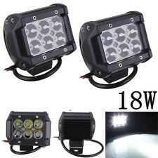 18W 12V Car 6LED Spotlight Bright Projector Lamp Work Light White For SUV ATV