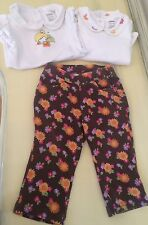 Gymboree Baby Girls 12-18 Months Bodysuits Pants 3pcs Brown Butterfly Fairy Set