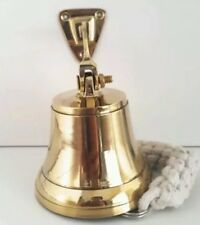 Antique Brass Wall Bell Vintage Ship's School Pub Last Orders Dinner Door 3 inch