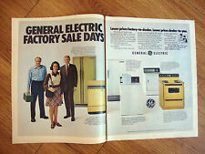 1972 GE General Electric Appliance Ad Factory Sales Days Refrigerator Washer