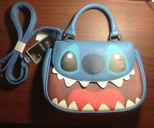 Disney Stitch Character Big Face Flap Satchel Shoulder Bag Purse NWT