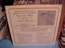 VINTAGE CAPITOL RECORDS FACTORY 12 BW 1601 12 IN. INNER SLEEVE ONLY NO RECORD