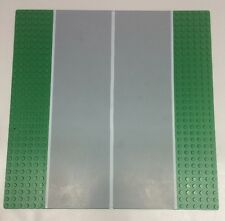Vintage Lego Base plate 44336px3 Green Runway Straight (6-Stud) From Set 10159