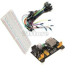 MB-102 Power Module 3.3V 5V+Breadboard Board 830 Point+65Pcs Jumper cable SR1G