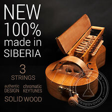 HURDY GURDY / Chromatic octave / 3 Strings / NEW / made by BALALAIKER, Russia