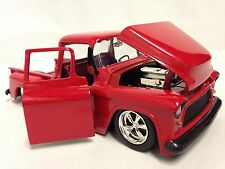 1955 Chevrolet Stepside Pickup Truck,1:24 Diecast, Collectible, Jada Toy,Red DSP