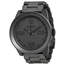 Nixon CORPORAL SS Black Ion-plated Stainless Steel Mens Watch A346-1062