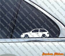 2X Lowered Low Suzuki Swift GA GTI / Cultus (SF) car outline STICKERS S464