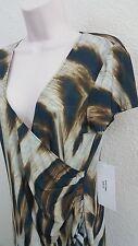 Argenti Animal Print Wrap Dress Size 10 NWT