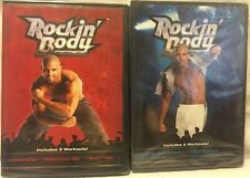 7 Rockin' Body workouts on 2 DVDs Shaun T Dance exercise fitness cardio core