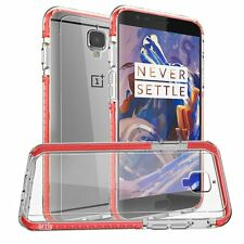 Orzly® - Fusion Bumper Case Cover Shell for Oneplus 3 - RED