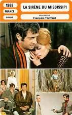 FICHE CINEMA : LA SIRENE DU MISSISSIPI - Belmondo,Deneuve,Truffaut 1969 Mermaid