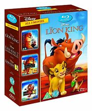 The Lion King Trilogy 1 2 3 (Blu-Ray Box Set, Simba Disney Kids 3 Movies) NEW