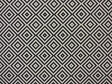 ASHILAH NOIR H29 REVERSIBLE BLACK GEOMETRIC CURTAIN LIGHT UPHOLSTERY FABRIC