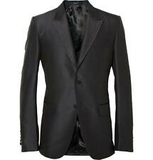 Gucci Marseille Silk Evening Jacket Black / Blue EU46 Small RRP £1850 Tuxedo
