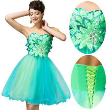 Green 14 Wedding Formal Evening Cocktail Ball Gown Party Prom Graduation Dress