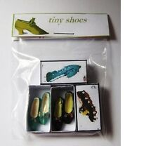 2 PAIRS LADIES  SHOES  B  DOLLS HOUSE MINIATURES