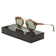 RETROSUPERFUTURE Super Panama BHM Sunglasses 474 Brown Havana Frame Green Lenses
