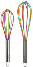 CORE HOME - Kitchen Stainless Steel Rainbow Silicone Whisks - 2 Piece