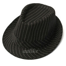 Men Women Vintage Cotton Cap Fedora Felt Trilby Gangster Farmer Jazz Panama Hat