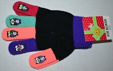 NWT Cold Weather KNIT Stretch MAJIC GLOVES Multi-Color Finger Tip SWEET OWLS