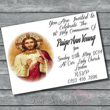 Pack de 10 personnalisé 1er sainte communion invitations-carte de style A6 brillant 3