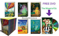 THE COMPLETE WIZARD OF OZ (pb) L Frank Baum 5 Volume Box Set & FREE DVD
