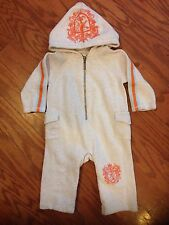 Juicy Couture Baby One Piece Hooded Coverall * Neutral * Boy or Girl * Sz 6-9m