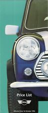 Rover Mini 1996-97 UK Market Prices & Options Foldout Brochure 1.3i & Cooper