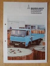 MAGIRUS DEUTZ orig 1970s German Mkt Sales / Specs Brochure Prospekt - Double Cab
