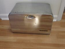 Vintage Mid Century Modern Chrome Metal Bread Box, Beauty Box by Lincoln
