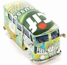 VW CAMPERVAN MODEL handmade from RECYCLED TIN CANS fair trade Madagascar NEW!
