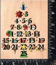 All Night Media Wood Mounted Stamp Advent Tree