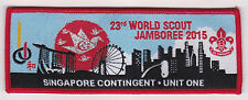 2015 World Scout Jamboree SINGAPORE SCOUTS UNIT ONE Contingent Patch