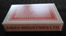 "VINTAGE AMAV ""THE MARKED DECK"" MAGIC PLAYING CARDS W/INSTRUCTIONS HONG KONG"