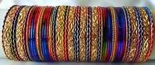 Indian Lovable 48pcs Multi Colored Royal Look Bridal Bangles Set Jewelry 2.8.