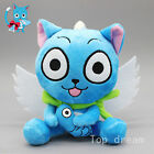"New Cute Blue Happy Cat Anime Fairy Tail Soft Plush Doll Toy 6.3"" Teddy Gift"