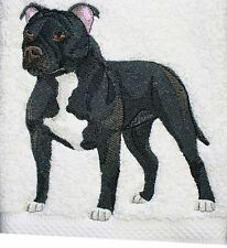 "Staffordshire Bull Terrier Dog  Embroidered Patch 5.8"" x 6.2"""