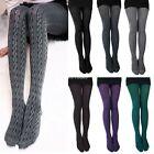 Women Winter Warm Cotton Blend Twist Stirrup Pantyhose Tights Hot
