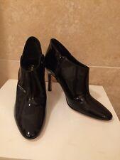 Black Patent L K Bennett Ankle Shoe Boots Size 4