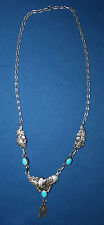 Robert Becenti Navajo Sterling Silver and Turquoise Eagle Necklace