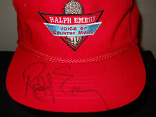 VTG 1990s Ralph Emery Voice of Country Music autographed signed hat sku8 -