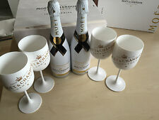 ** Moët & Chandon 2 canette of Ice Imperial set dans Coffret et 4 propre. verres **