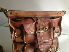 Mulberry Oak Brown Leather Alana Handbag, Serial Number+Gold Hardware - LOVELY!!