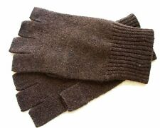 Chocolate Brown Unisex 100% Cashmere fingerless gloves half finger